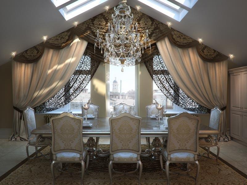 шторы на мансардные окна ламбрекен фото