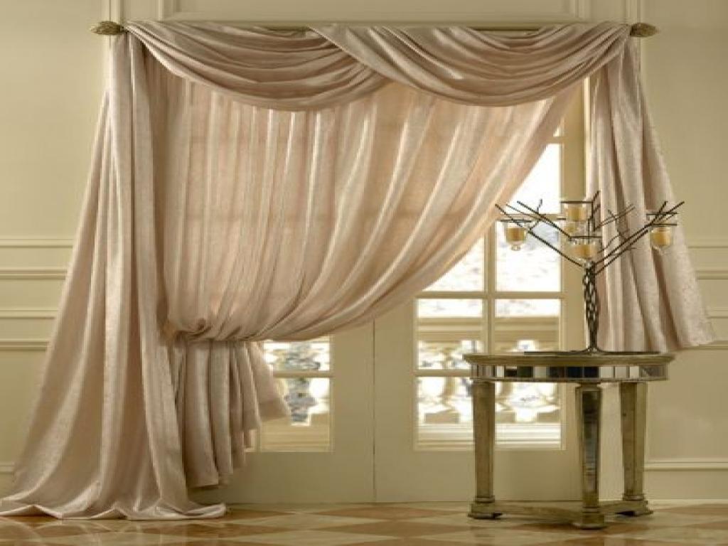 шторы на одну сторону окна идеи оформления
