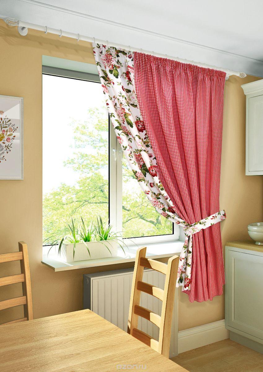 шторы на одну сторону окна идеи текстиль