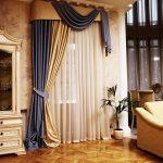 шторы на одну сторону окна дизайн