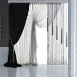 шторы на одну сторону окна варианты фото