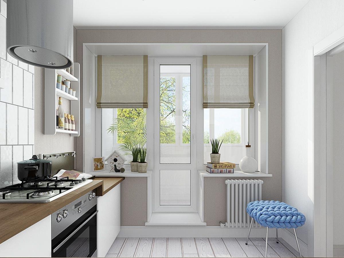 шторы на окно с балконом декор идеи