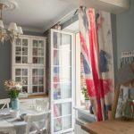 шторы на окно с балконом идеи декор