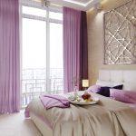 шторы на панорамные окна в спальне