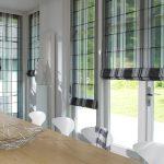 шторы на панорамные окна идеи