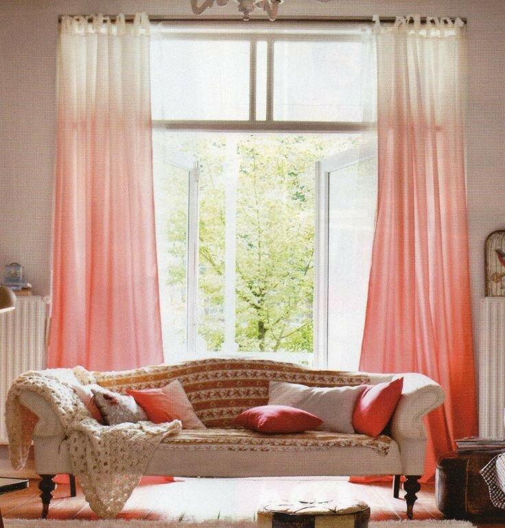 шторы омбре градиент идеи фото