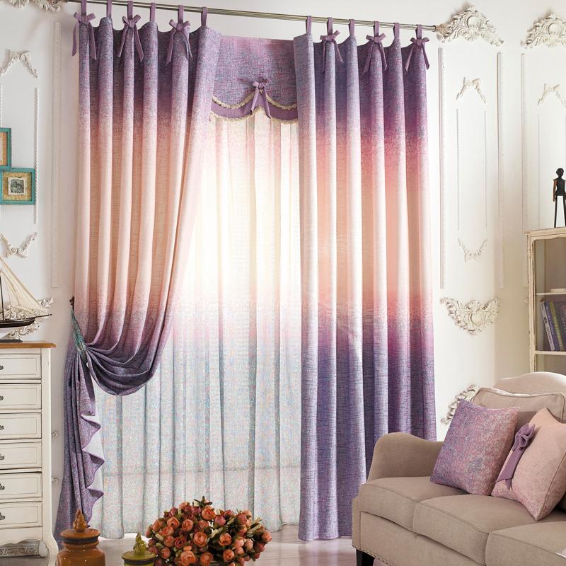 шторы омбре текстиль