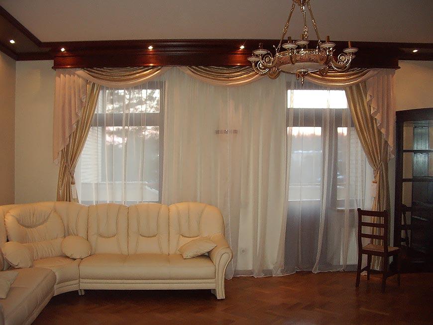 шторы из органзы фото интерьера