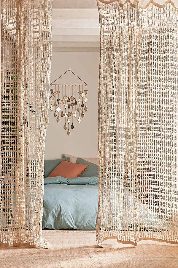 шторы из сетки оформление фото