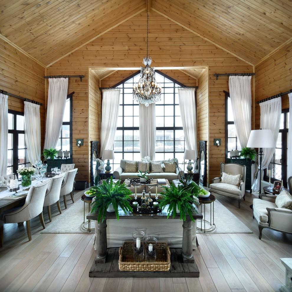 шторы в деревянном доме идеи интерьера