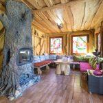 шторы в деревянном доме оформление фото