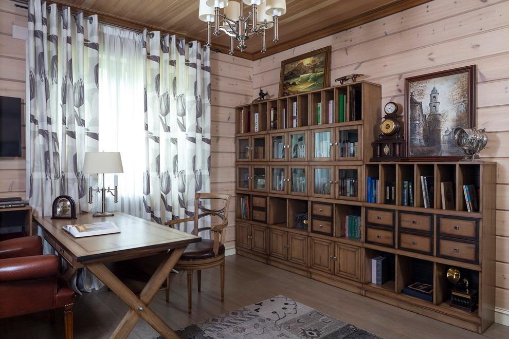 шторы в деревянном доме варианты