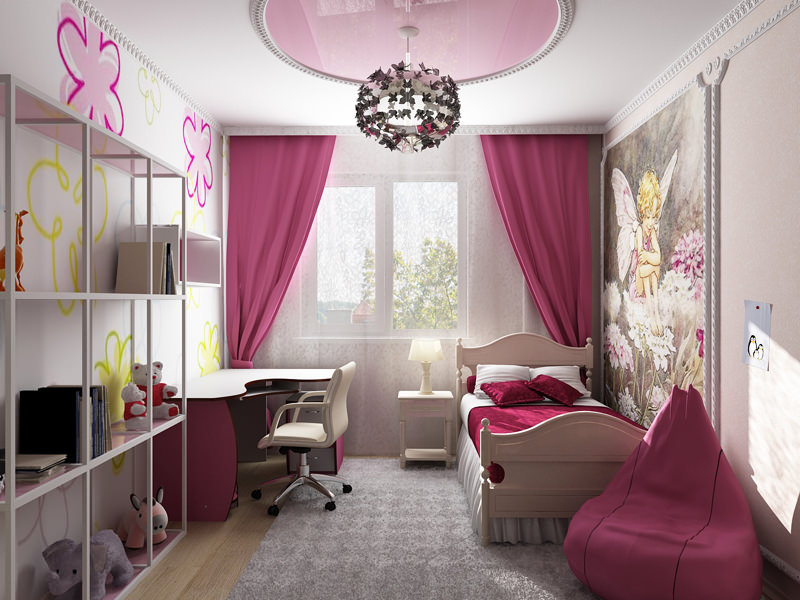 шторы в комнату девочки подростка фото оформления
