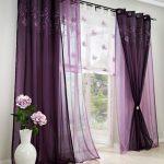 современный тюль фиолетовый