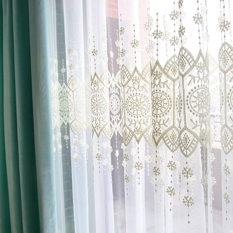 тюль с вышивкой декор идеи