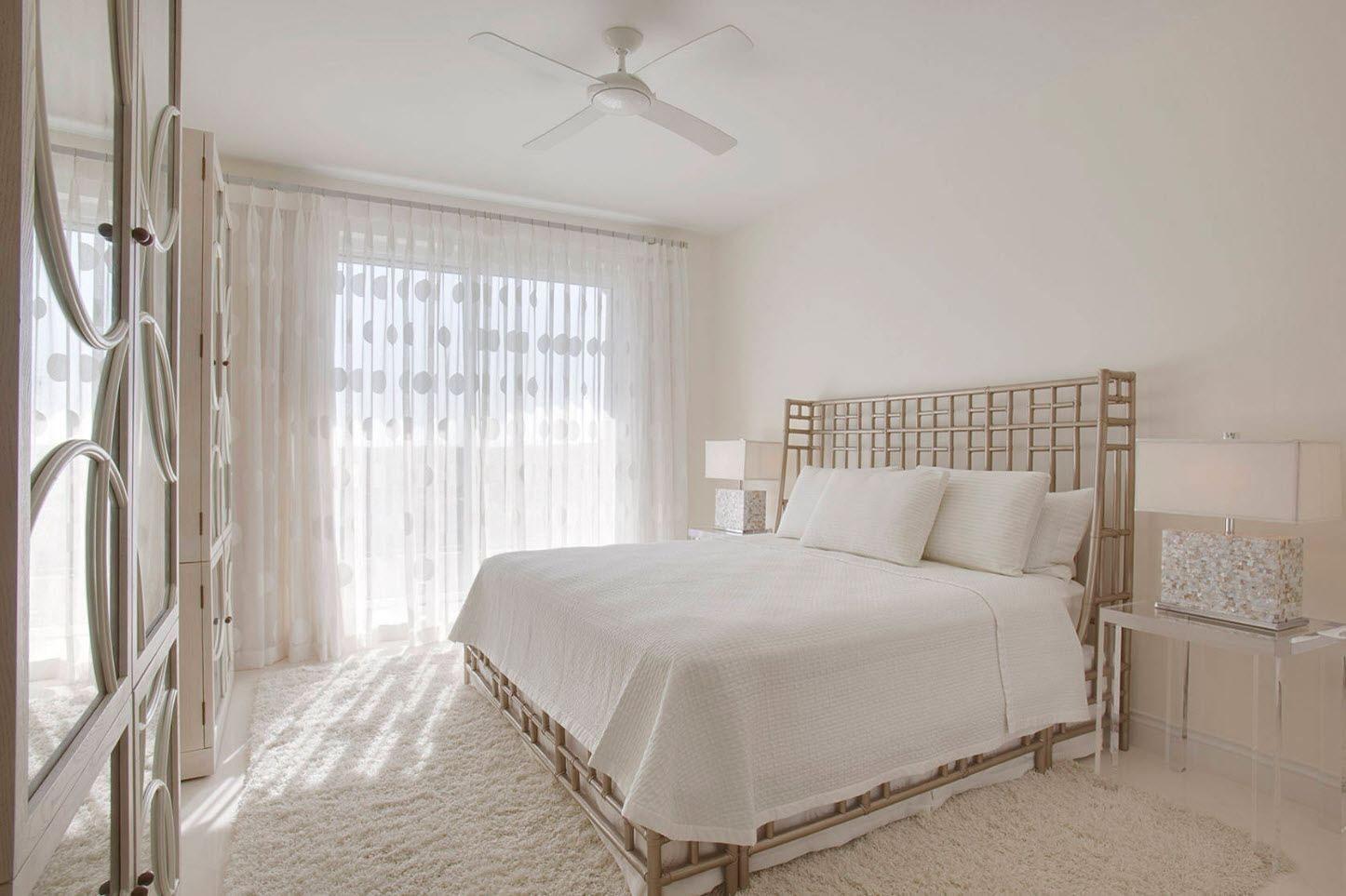 тюль в спальне дизайн интерьер
