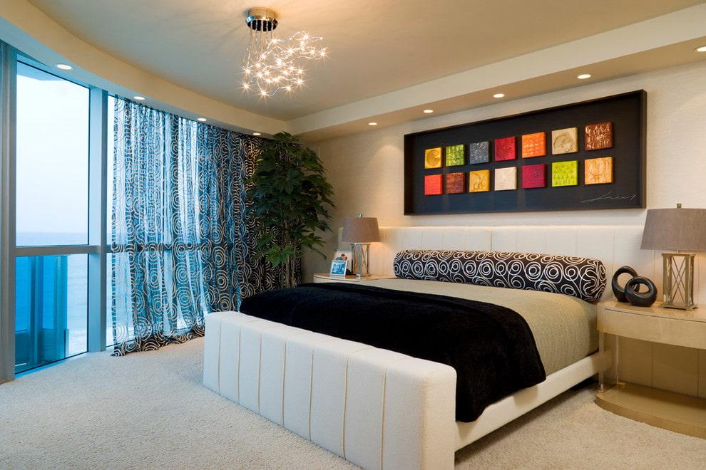 тюль в спальне дизайн фото