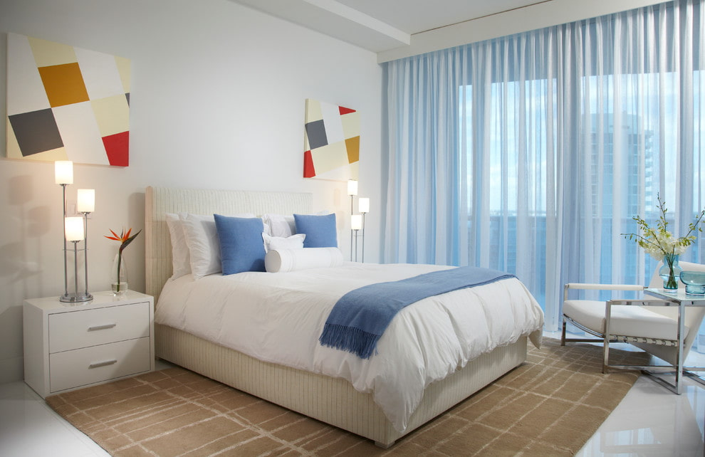 тюль в спальне фото декора