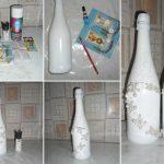свадебные бутылки декор