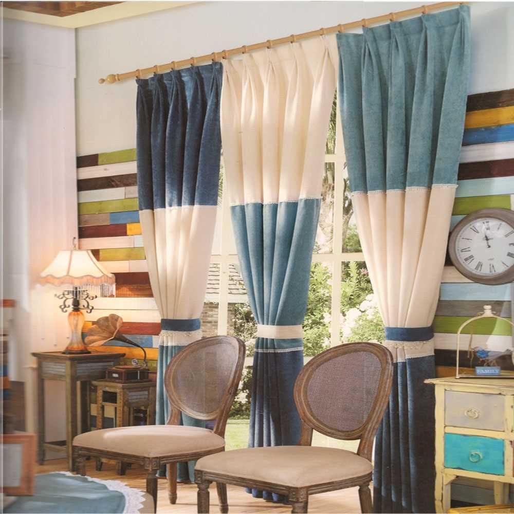 комбинированные шторы вариант использования