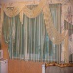 декор штор в гостиной
