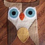 вязаный коврик сова фото дизайна