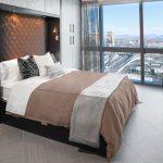 современный тюль в спальне