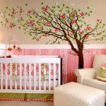 бортики для новорожденного розовые