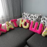 буквы подушки декор