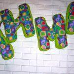 буквы подушки идеи декора