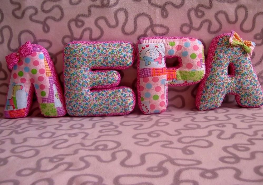 буквы подушки пошив