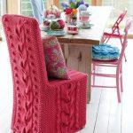 чехлы на стулья со спинками вязаные