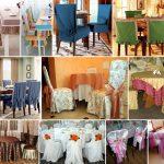 чехлы на стулья со спинками декор фото