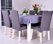 чехлы на стулья со спинками фото оформления