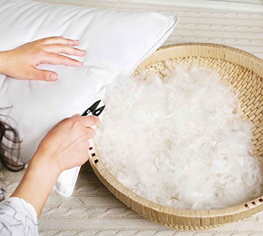 чистка перьевой подушки