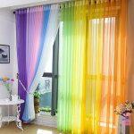 цветной тюль радуга фото