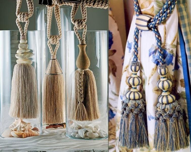 декоративные кисти для штор идеи оформление
