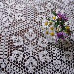 скатерть вязаная крючком полевые цветы