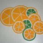 подставка под горячее апельсины
