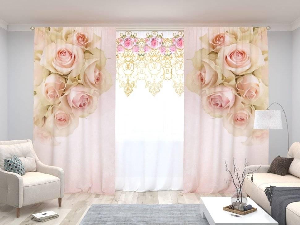 фотошторы с розами