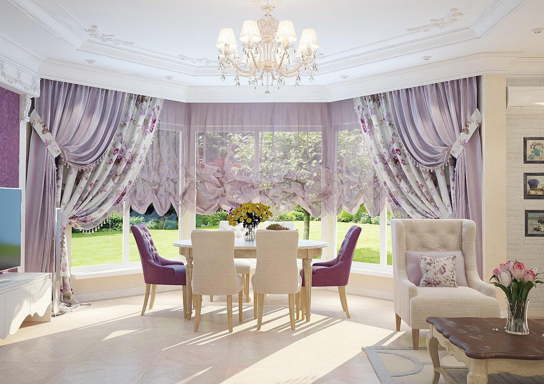 французские шторы идеи декор