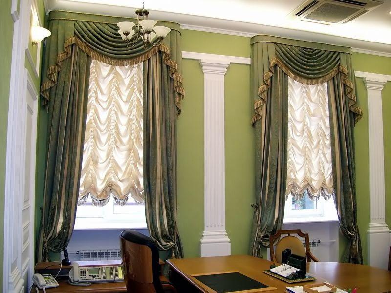 французские шторы идеи декора