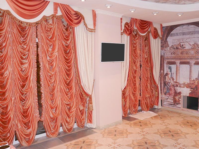 французские шторы фото оформление