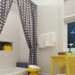 текстильные шторы для ванной дизайн фото