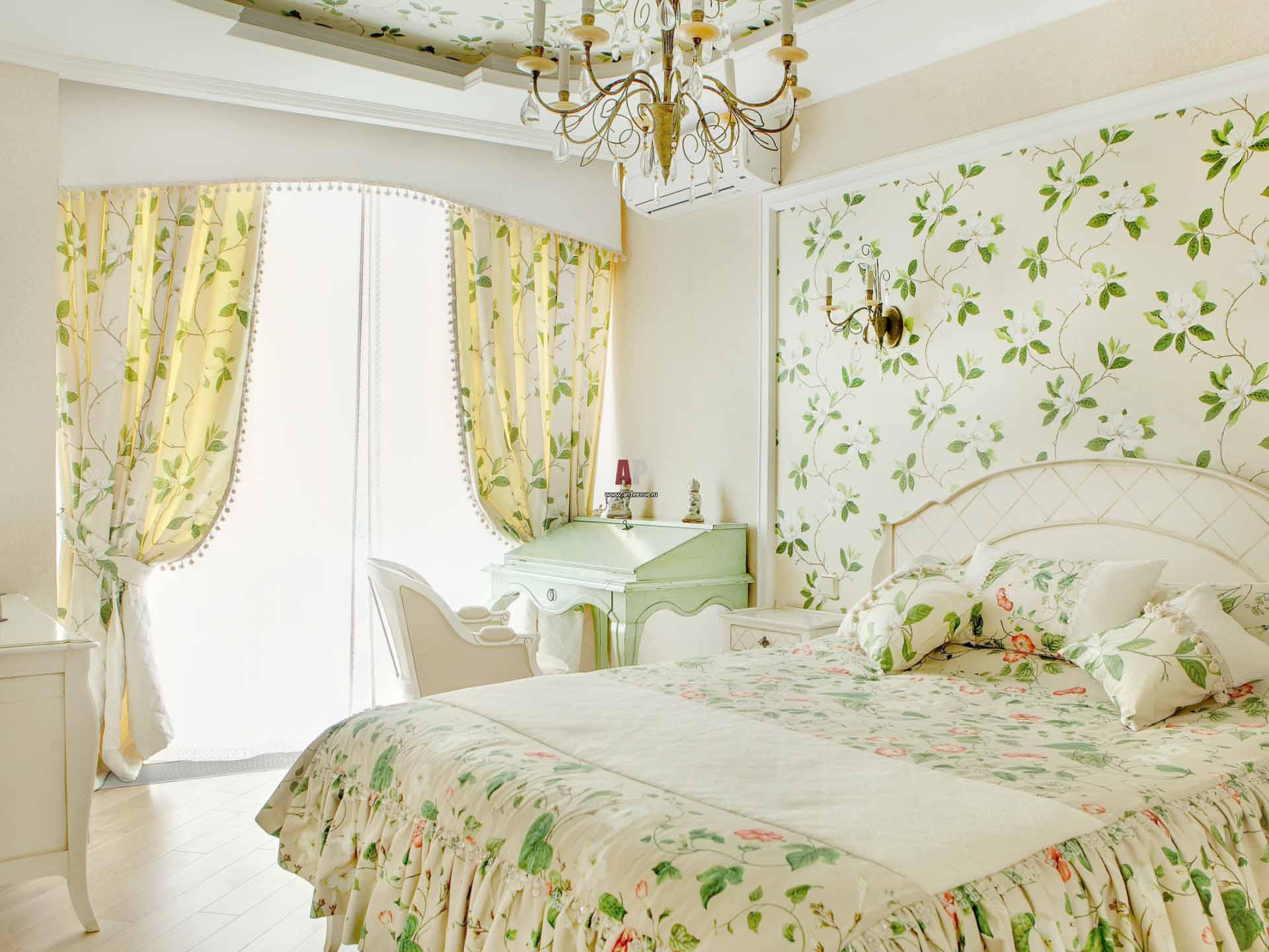 комплект из штор и покрывала для спальни идеи вариантов