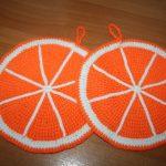 вязаные прихватки крючком апельсинки