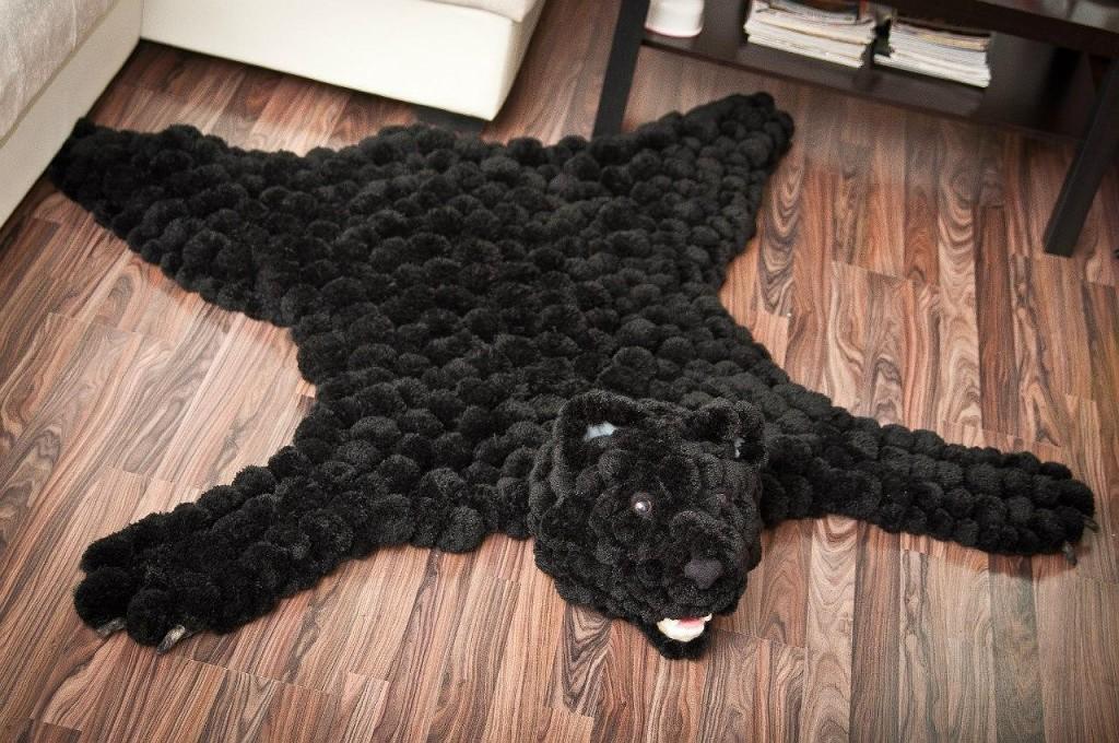 коврик из помпонов фото декора
