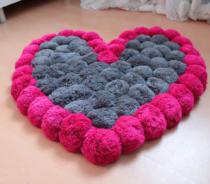 коврик сердечко
