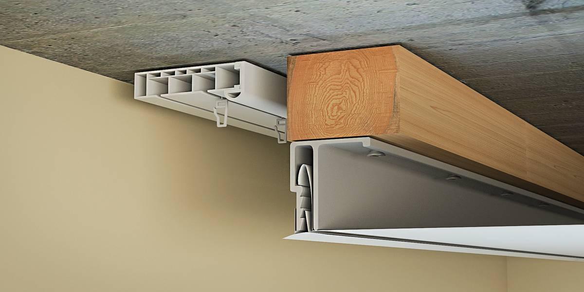 ниша для штор в натяжном потолке интерьер фото
