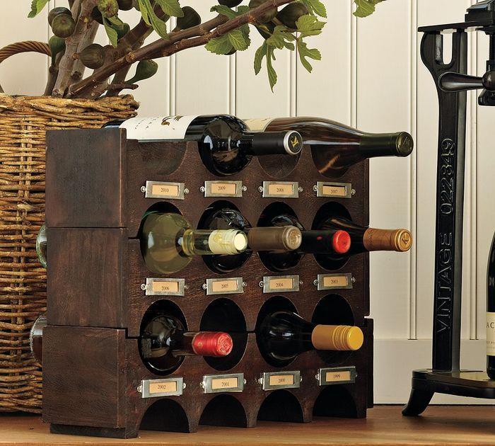подставка для винных бутылок дизайн